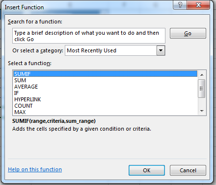 How to Use SUMIF in Excel 2013 4