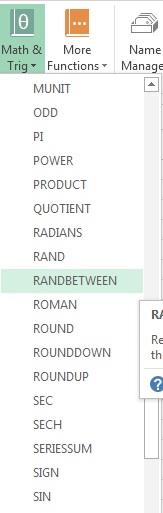 How to Create a List of Random Numbers in Excel 2013 4