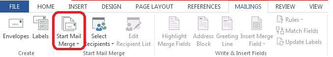 How to Use Mail Merge in Word 2013 2