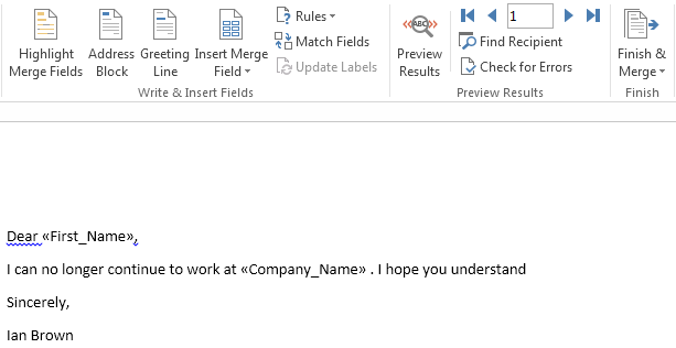 How to Use Mail Merge in Word 2013 8