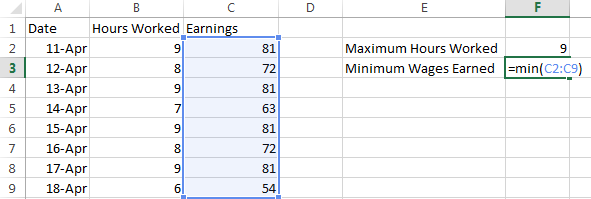 How to Use Highest & Lowest Functions in Excel 2013 3