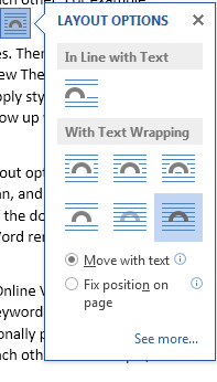 How to Use Live Layout in Word 2013 3