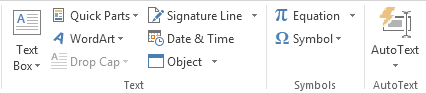 How to Create AutoText Entries in Word 2013 9