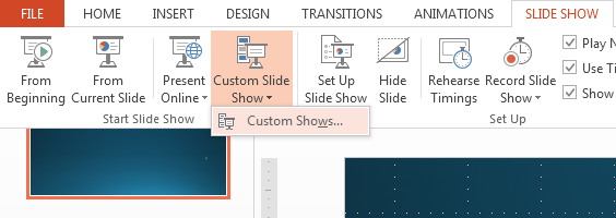 How to Create Custom Shows in PowerPoint 2013 2